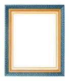 Antiek gouden die kader op witte achtergrond wordt geïsoleerd royalty-vrije stock foto