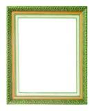 Antiek gouden die kader op witte achtergrond wordt geïsoleerd royalty-vrije stock foto's