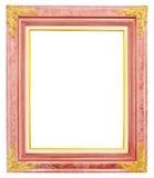 Antiek gouden die kader op witte achtergrond wordt geïsoleerd royalty-vrije stock afbeelding