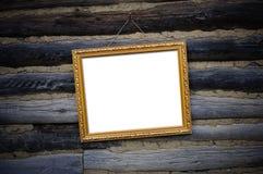 Antiek gouden frame Stock Foto's