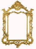 Antiek gouden frame XXXL met het knippen van weg stock afbeelding