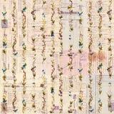 Antiek grungy manuscript en bloemenachtergrond Stock Foto