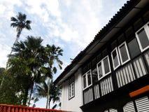 Antiek historisch tropisch huis Stock Foto's