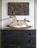 Antiek Hobbelpaardstuk speelgoed royalty-vrije stock afbeelding
