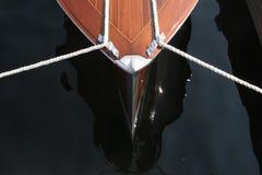 Antiek houten bootdetail stock fotografie