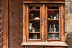 Antiek houten buffet Royalty-vrije Stock Afbeelding