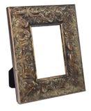 Antiek houten die fotokader op witte achtergrond wordt geïsoleerd Royalty-vrije Stock Foto