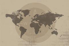 Antiek kaartontwerp stock illustratie
