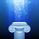 Antiek kapitaal in blauw licht Royalty-vrije Stock Foto's