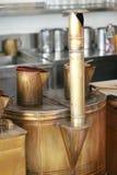 Antiek koffiezetapparaat Stock Afbeelding