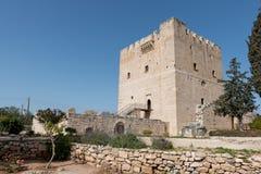 Antiek Kolossi-kasteel dichtbij Limassol, Cyprus stock foto