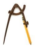 Antiek kompas Royalty-vrije Stock Fotografie
