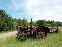Antiek landbouwbedrijf equipment3 Royalty-vrije Stock Afbeelding