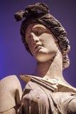 Antiek leeftijds Marmeren Gezicht en Lichaamsstandbeeld Royalty-vrije Stock Foto's