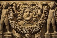 Antiek leeftijds Marmeren Standbeeld Stock Afbeeldingen