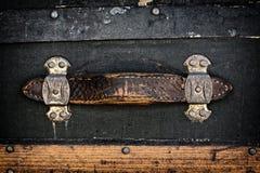 Antiek Leerhandvat Royalty-vrije Stock Foto