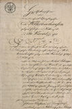 Antiek manuscript met kalligrafische met de hand geschreven teksten Document tex stock foto