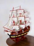 Antiek Model Varend Schip Royalty-vrije Stock Afbeeldingen