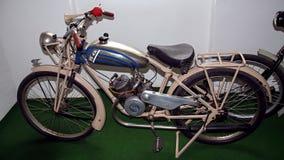 Antiek motorfietsmerk ESKA 98 ccm, 1926, motorfietsmuseum Stock Afbeeldingen