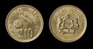 Antiek muntstuk van Afrikaans land stock afbeelding