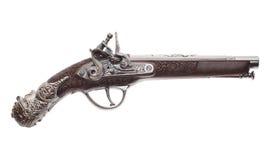 Antiek musket op witte achtergrond Stock Fotografie