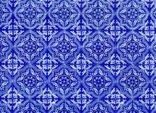 Antiek Naadloos Portugees Tegelspatroon Stock Afbeeldingen