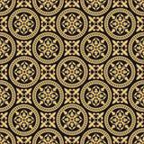 Antiek oosters naadloos patroon Stock Afbeeldingen