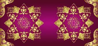Antiek ottoman gouden ontwerp stock illustratie