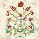 Antiek ottoman grungy behang rater ontwerp Stock Foto's