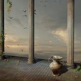 Antiek paleis Stock Foto