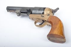 Antiek pistool met gravure Stock Afbeeldingen