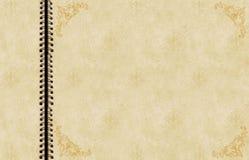 Antiek plakboek stock afbeeldingen