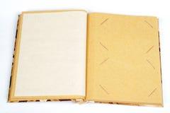 Antiek plakboek voor twee beelden per pagina Stock Foto