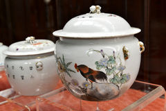 Antiek porselein, de ceramische, Chinese kunst van China, oosterse cultuur Royalty-vrije Stock Afbeelding