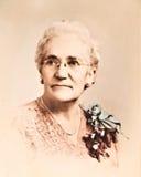 Antiek Portret Reto/Vrouw Stock Fotografie