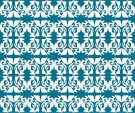 Antiek rol naadloos blauw behang Royalty-vrije Stock Afbeelding