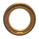 Antiek rond gouden frame (met het knippen van weg) Stock Foto's