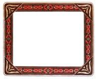 Antiek Rood en Beige Frame Royalty-vrije Stock Foto