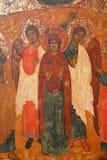 Antiek Russisch orthodox pictogram Royalty-vrije Stock Afbeelding
