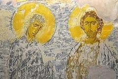 Antiek Russisch orthodox pictogram royalty-vrije stock afbeeldingen