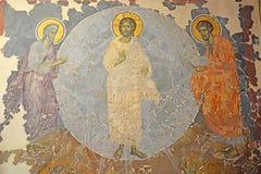 Antiek Russisch orthodox pictogram stock foto