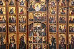 Antiek Russisch orthodox pictogram stock fotografie