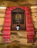 Antiek Russisch orthodox pictogram Royalty-vrije Stock Fotografie