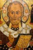 Antiek Russisch orthodox pictogram stock afbeeldingen