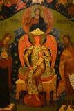 Antiek Russisch orthodox pictogram royalty-vrije stock foto's