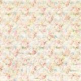 Antiek sjofel uitstekend van het rozen bloemenpatroon ontwerp als achtergrond Stock Foto
