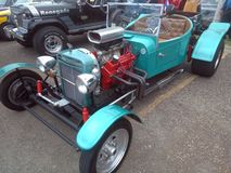 Antiek Spiercar show Isabela Puerto Stock Foto