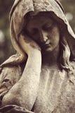 Antiek standbeeld van de Maagdelijke godsdienst van Mary, heilig geloof, stock afbeelding