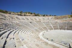 Antiek theater in Bodrum, Turkije royalty-vrije stock afbeelding
