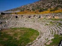 Antiek theater in Limyra Stock Foto